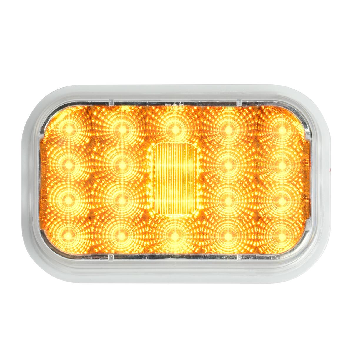 77461 High Profile Rectangular Spyder LED Light in Amber/Clear