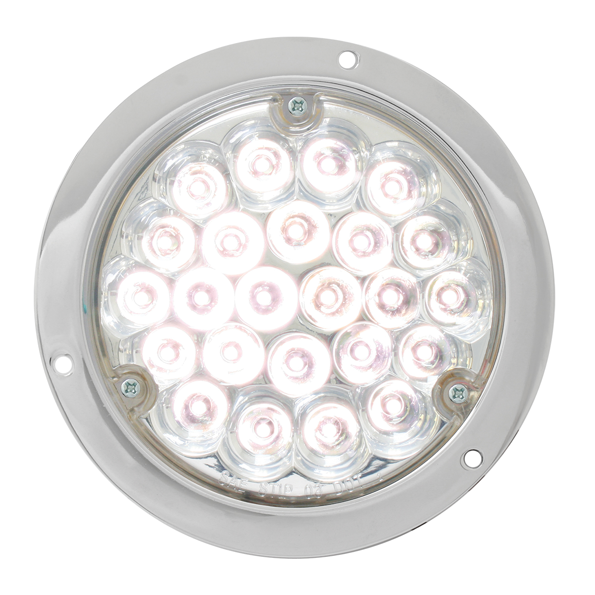 """87584 4"""" Pearl LED Light in White/Clear w/ Chrome Housing"""
