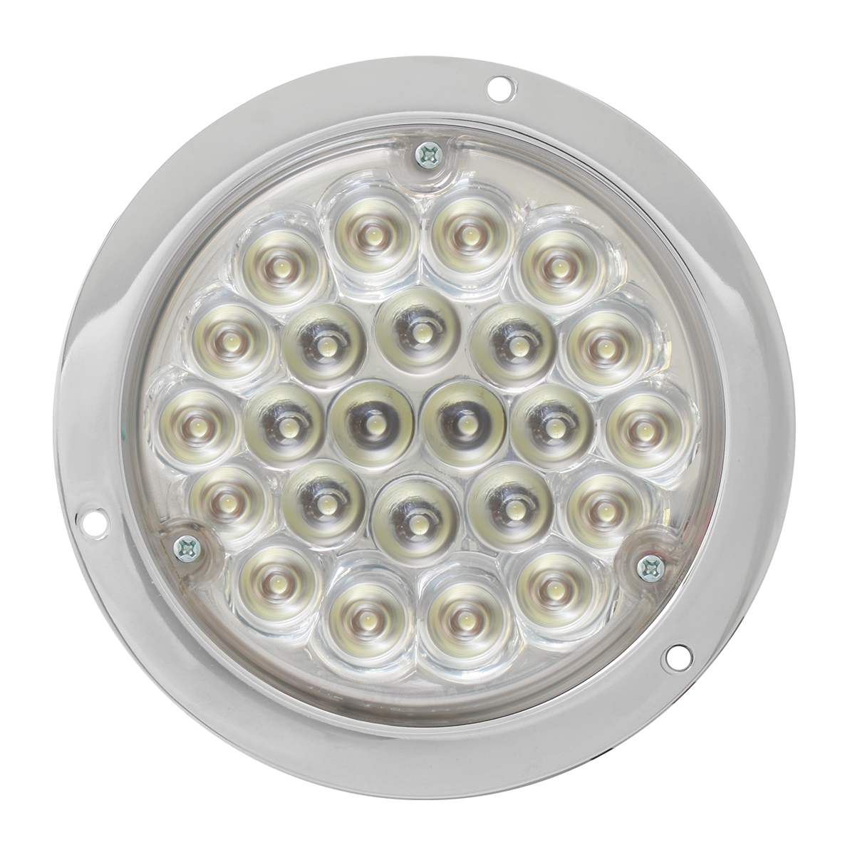 "87584 4"" Pearl LED Light in White/Clear w/ Chrome Housing"