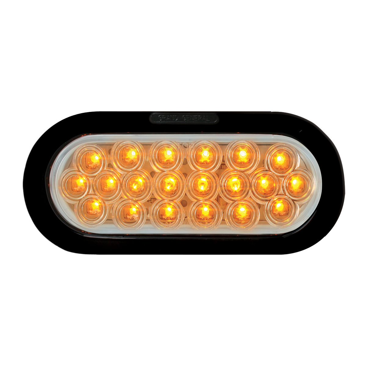 87726 Oval Fleet LED Light w/ Black Rubber Grommet