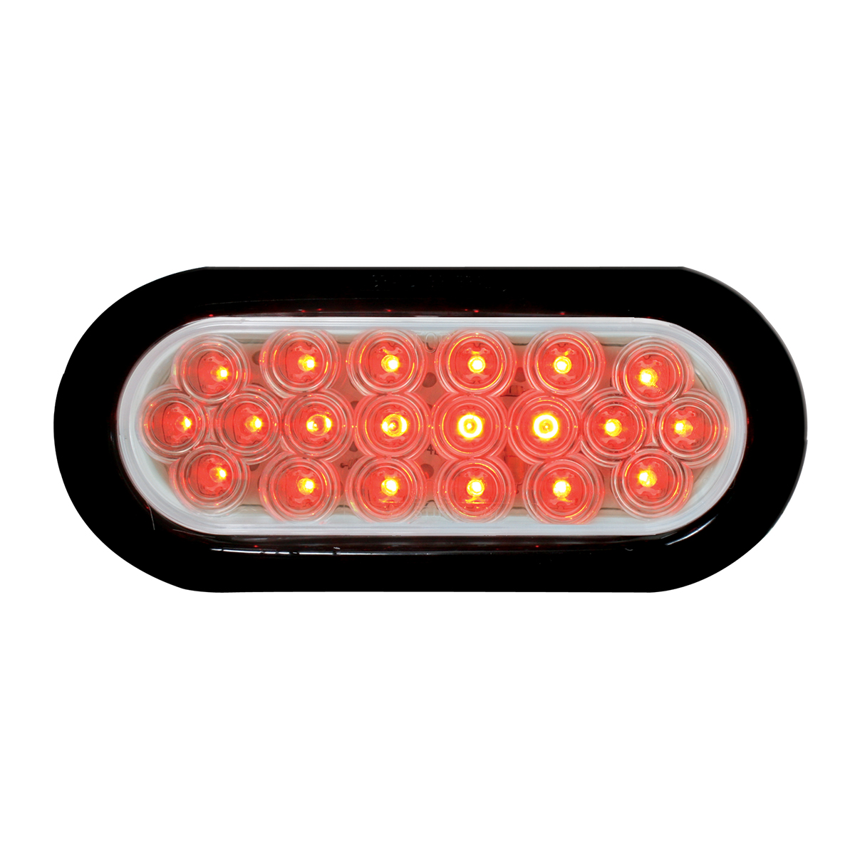 87727 Oval Fleet LED Light w/ Black Rubber Grommet