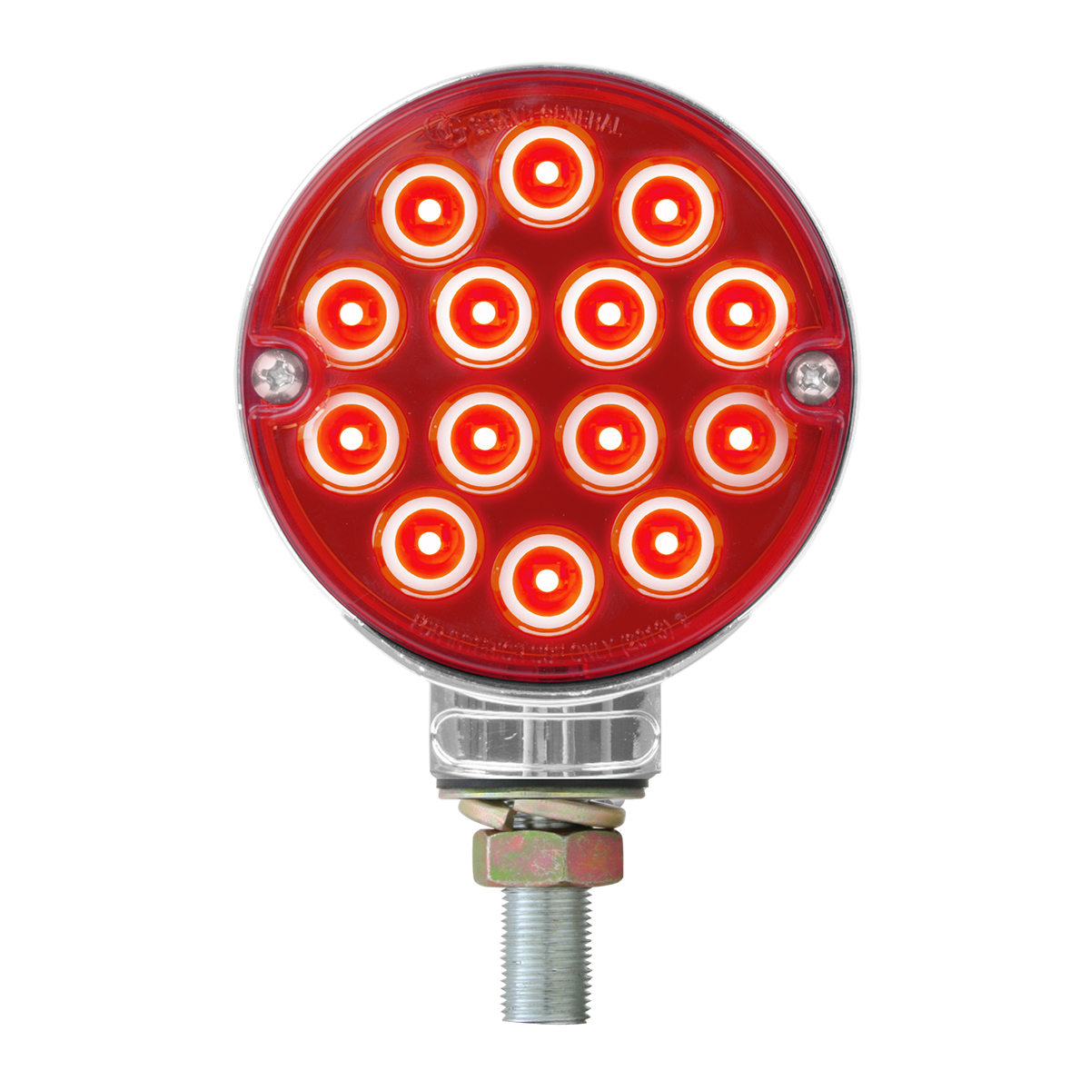 "75190 3"" Double Face Pearl LED Light - Red/Red Side"