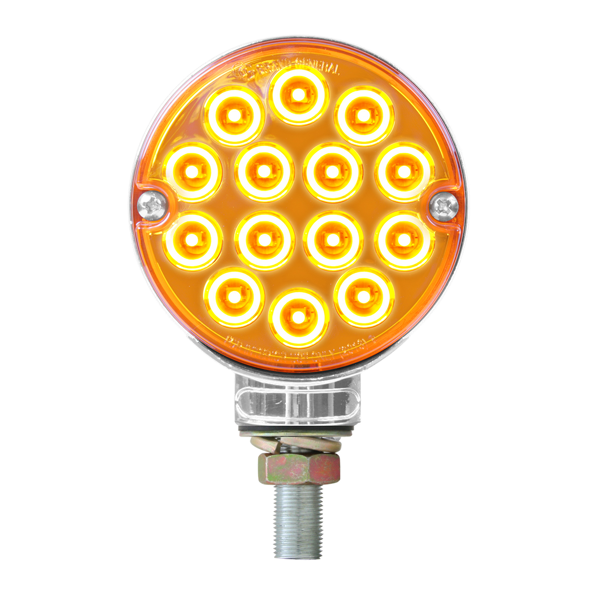 "3"" Double Face Pearl Amber LED Light in Amber Lens"