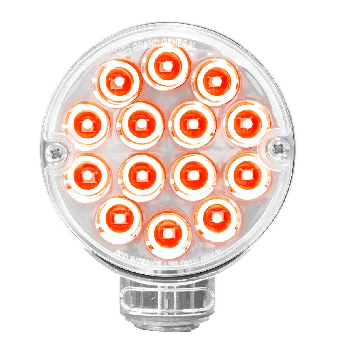 "75192 3"" Double Face Pearl Red Light - Red/Clear Side"
