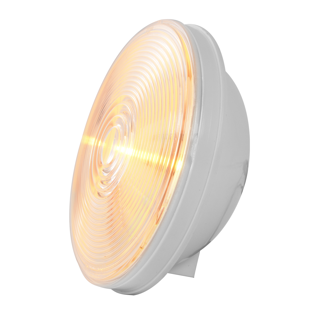 "75921 Amber/Clear 4"" Single LED Light"