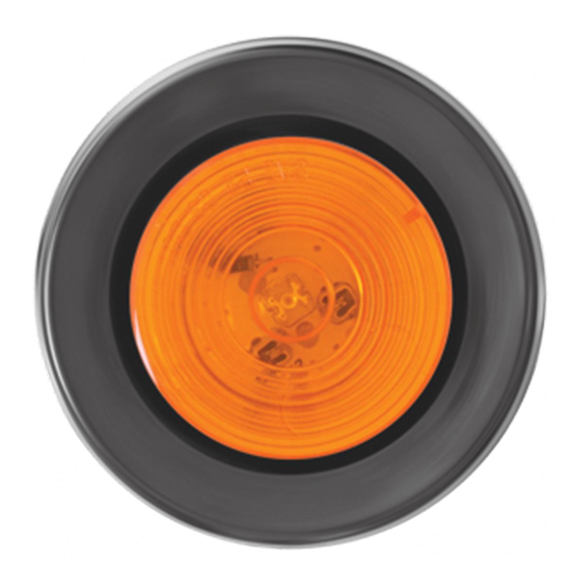 """76435 2"""" Fleet LED Marker Light with Black Rubber Grommet"""