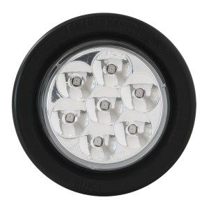 Pearl LED Marker Light with Black Rubber Grommet
