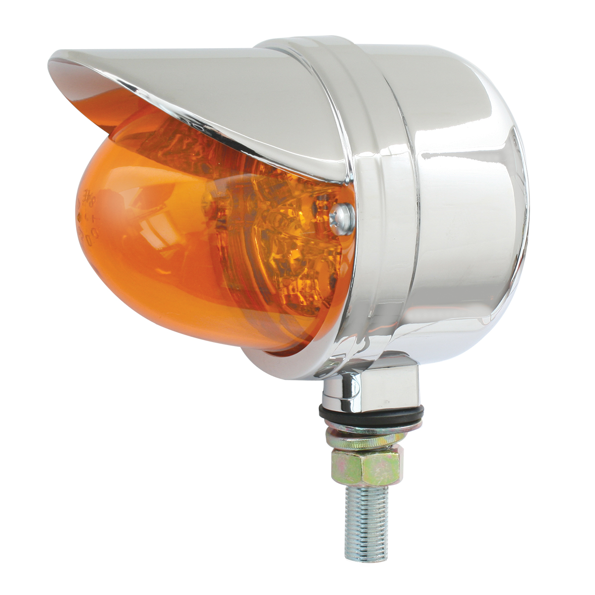 77922 Single Face Spyder LED Pedestal Light in Amber/Amber