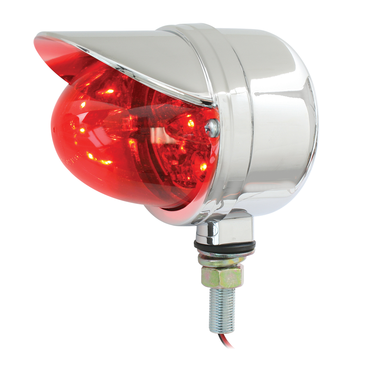 77923 Single Face Spyder LED Pedestal Light in Red/Red