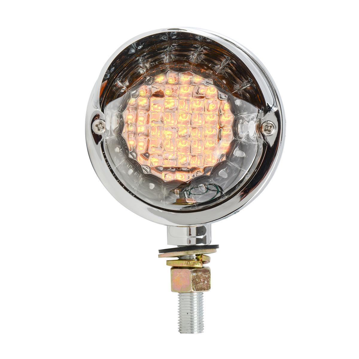 77994 Double Face Glass Lens LED Pedestal Light