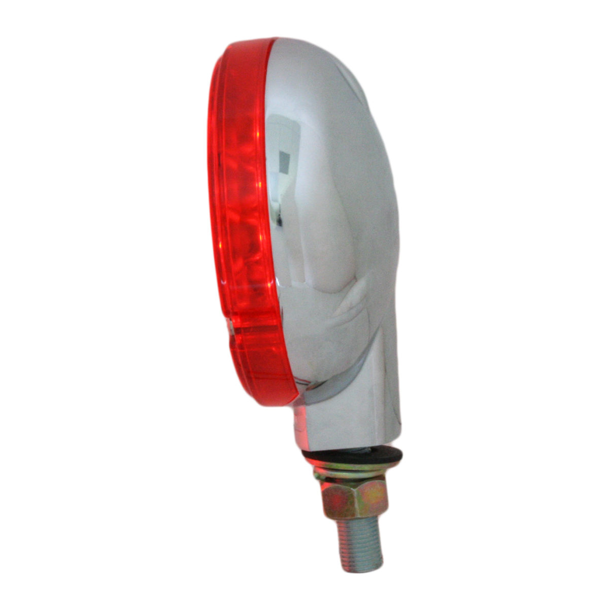 "78353 4"" Single Face Pearl LED Pedestal Light in Red/Red"