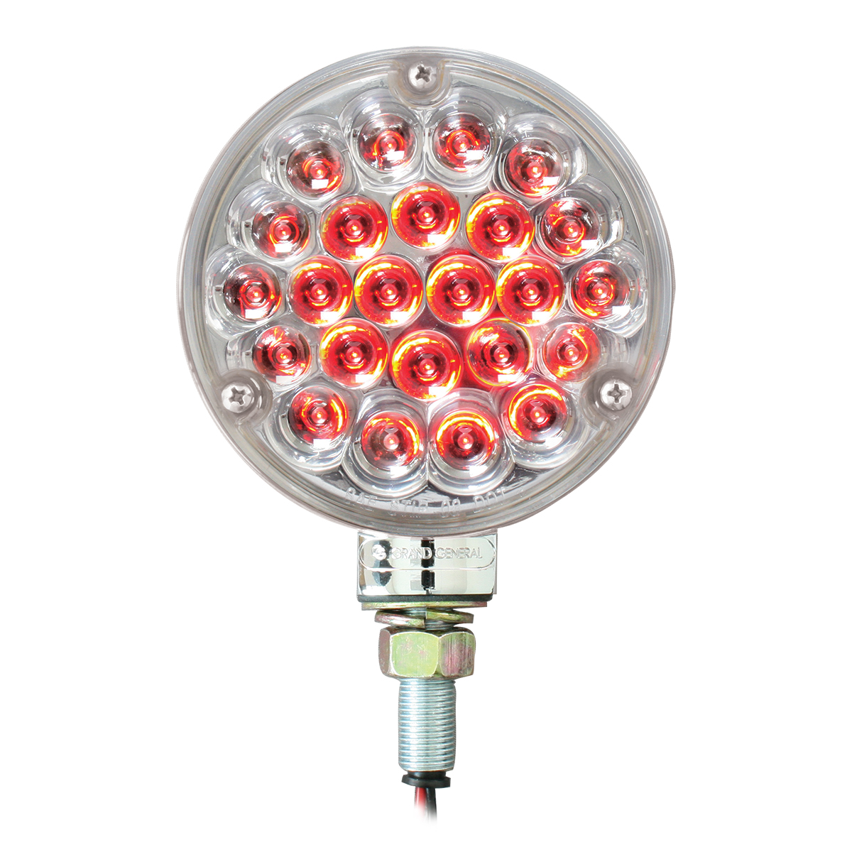 "78356 4"" Single Face Pearl LED Pedestal Light in Red/Clear"