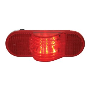 Oval Side Marker and Turn LED Light w/ Reflector