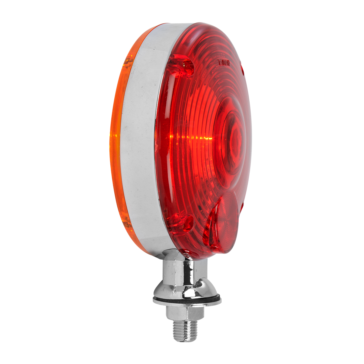 """#80305 4"""" Double Face Pedestal Amber/Red Light"""