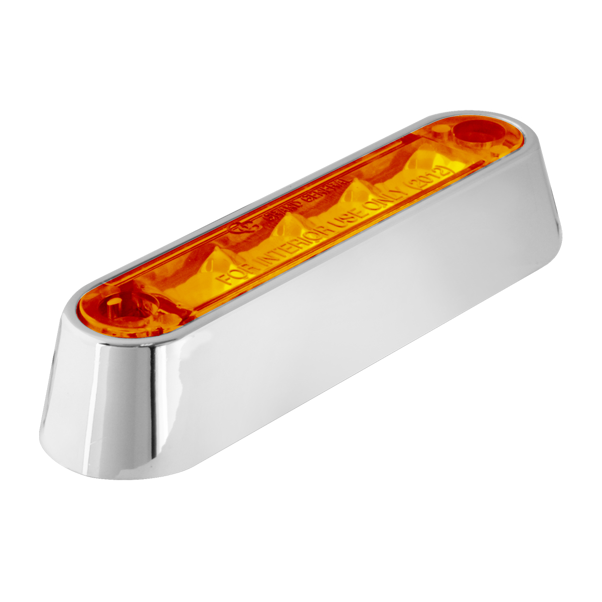 "74802 3.5"" Dual Function LED Light in Amber/Amber with Chrome Plastic Bezel"