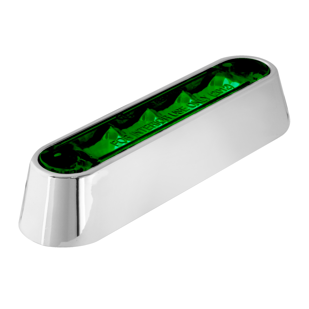"74806 3.5"" Dual Function LED Light in Green/Green with Chrome Plastic Bezel"
