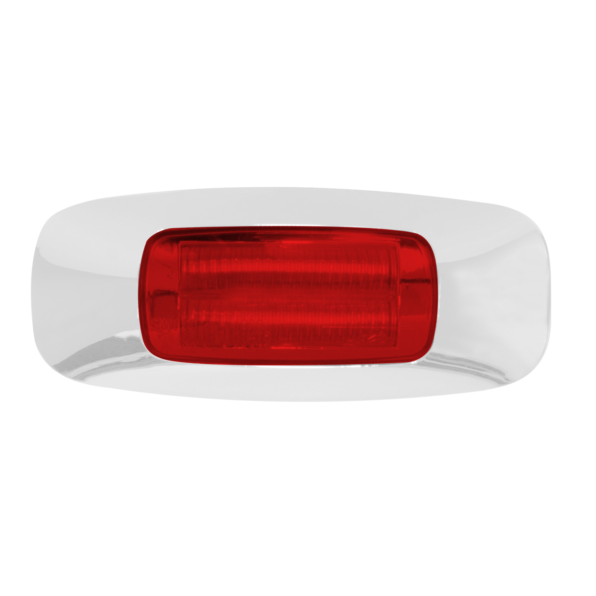 "74822 3.5"" Rectangular Prime LED Marker Light in Red/Red"