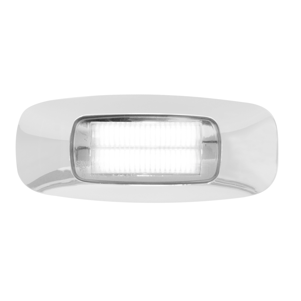 "74824 3.5"" Rectangular Prime LED Marker Light in White/Clear"