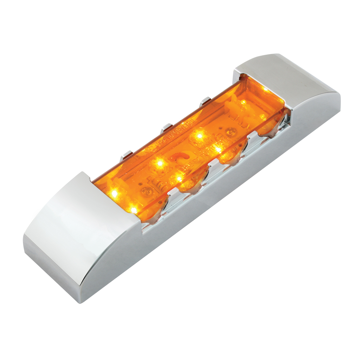 76180 Rectangular Wide Angle LED Light w/ Chrome Plastic Bezel