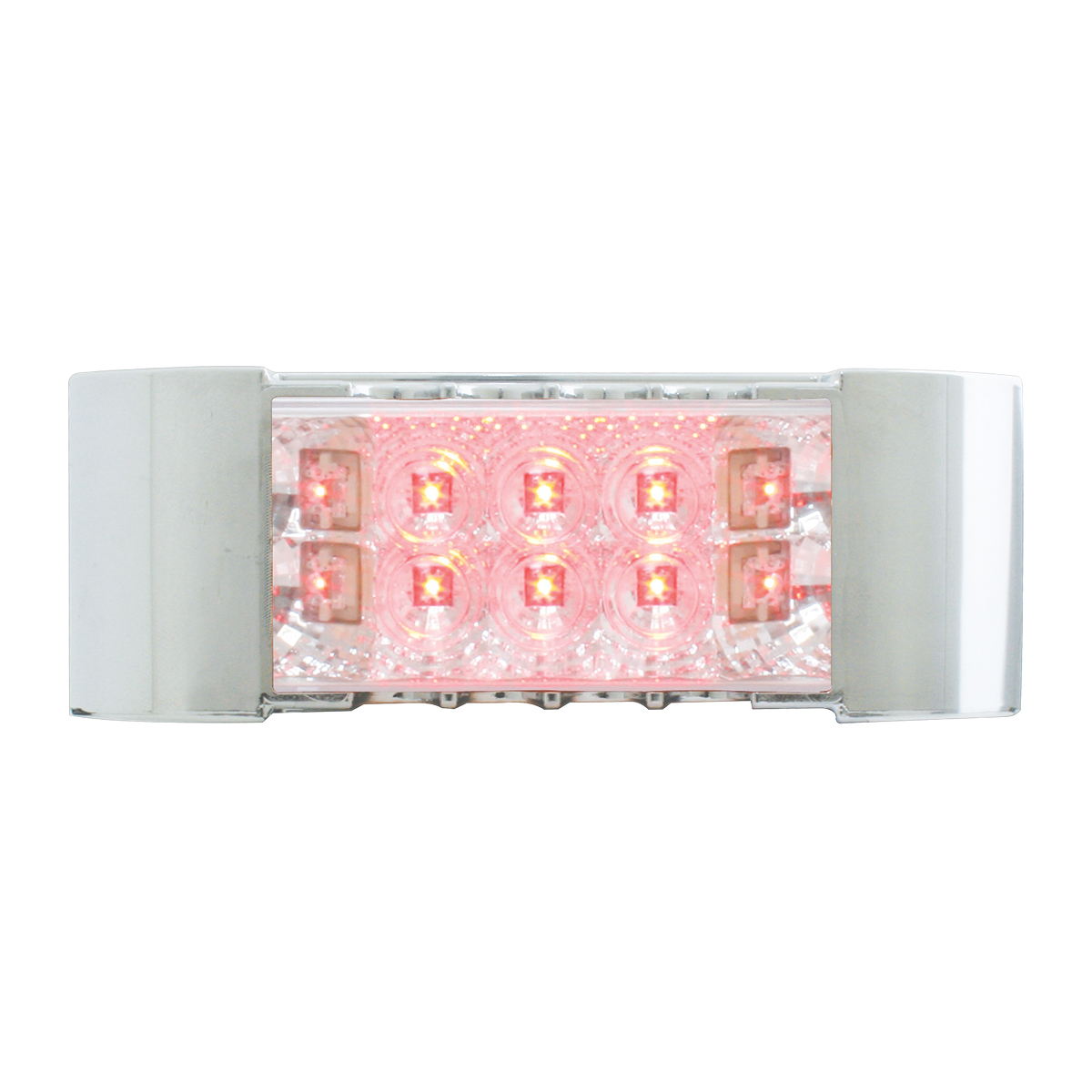 76217 Rectangular Wide Angle Spyder LED Marker Light w/ Chrome Plastic Bezel