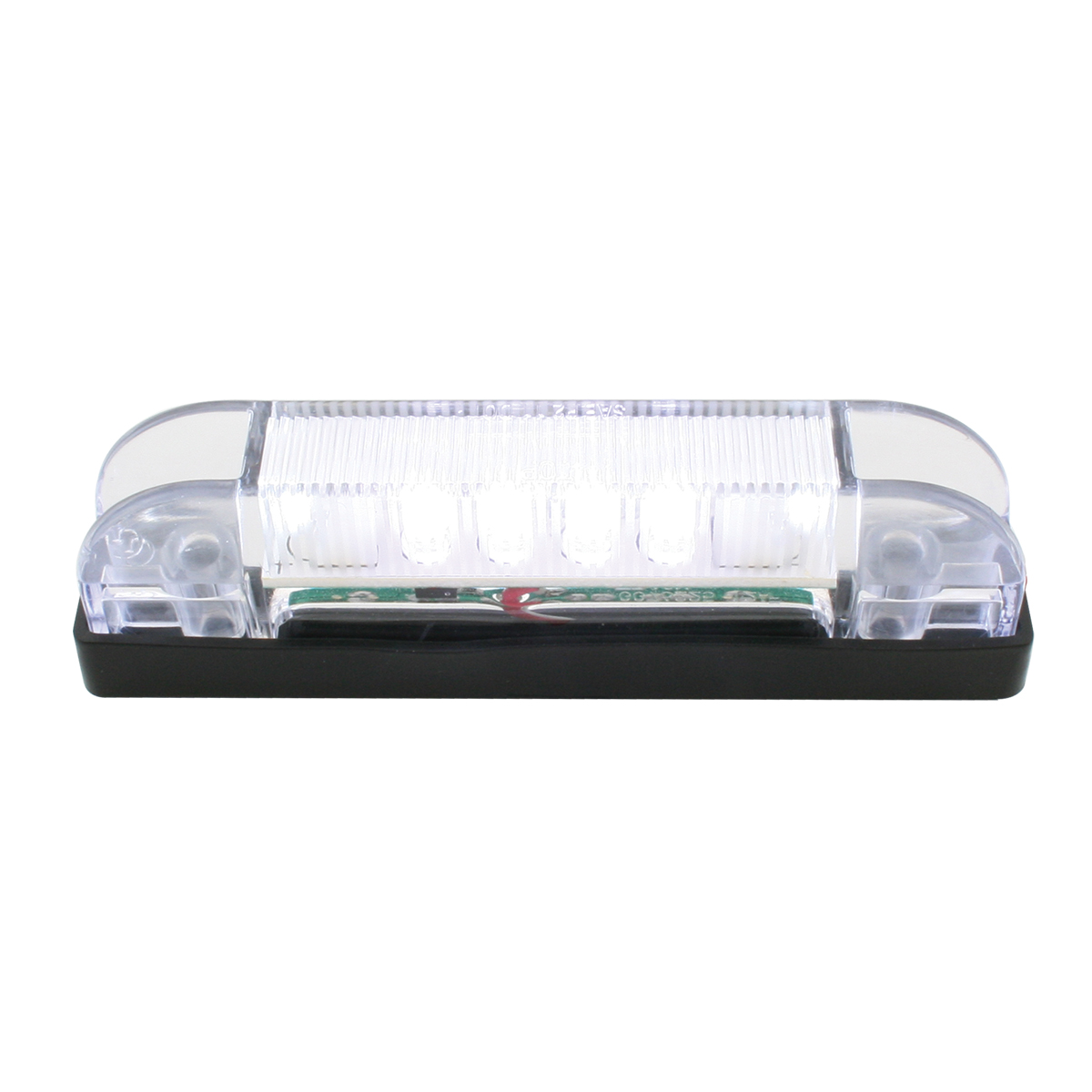 76225 Thin Line Wide Angle LED Marker Light in White/Clear