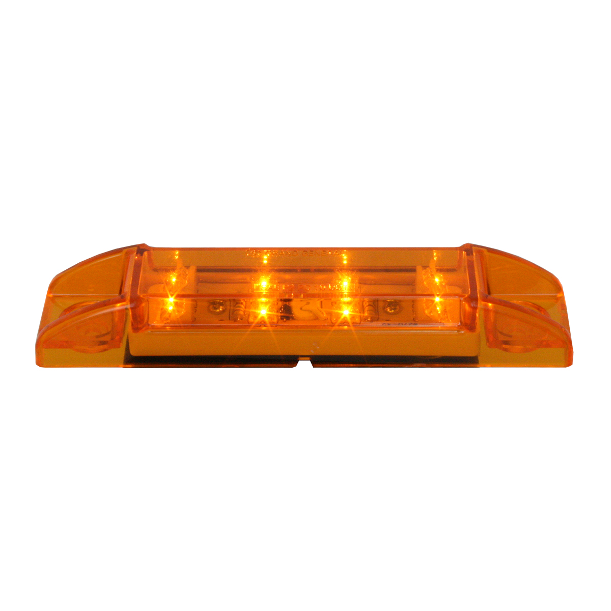 76260 Rectangular Wide Angle LED Light in Amber/Amber