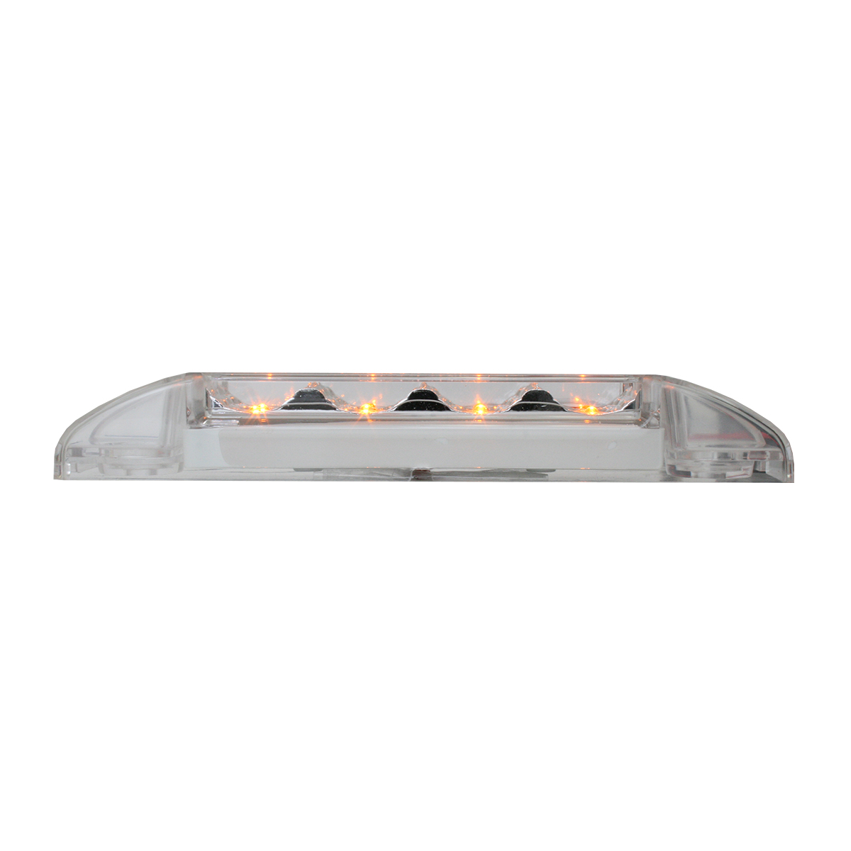 76271 Slim Rectangular Spyder LED Light in Amber/Clear