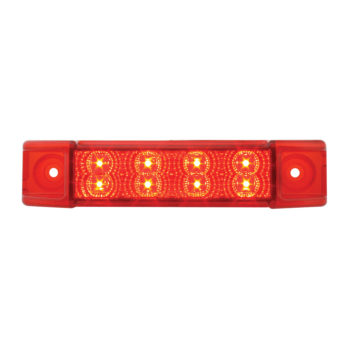 76272 Slim Rectangular Spyder LED Light in Red/Red