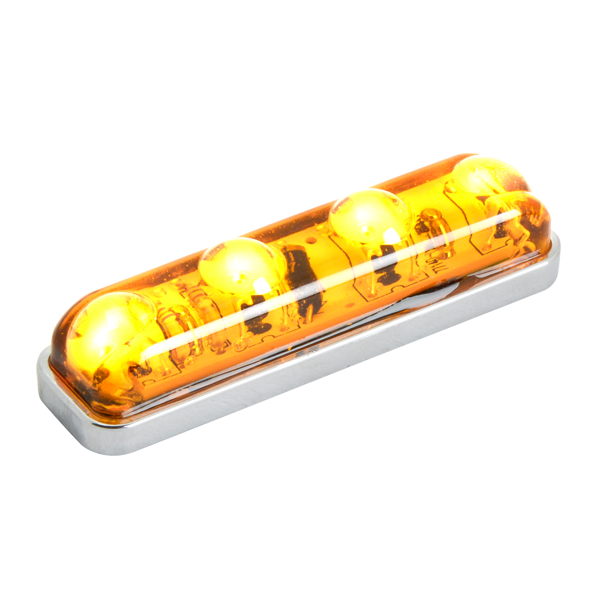 77140 Small Thin Lin Surface Mount LED Light in Amber/Amber