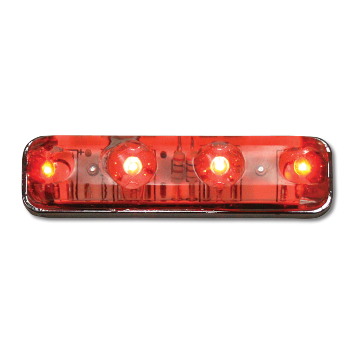 77148 Small Thin Lin Surface Mount LED Light in Red/Clear