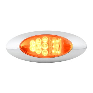 Y2K LED Turn/Marker Light with Chrome Bezel