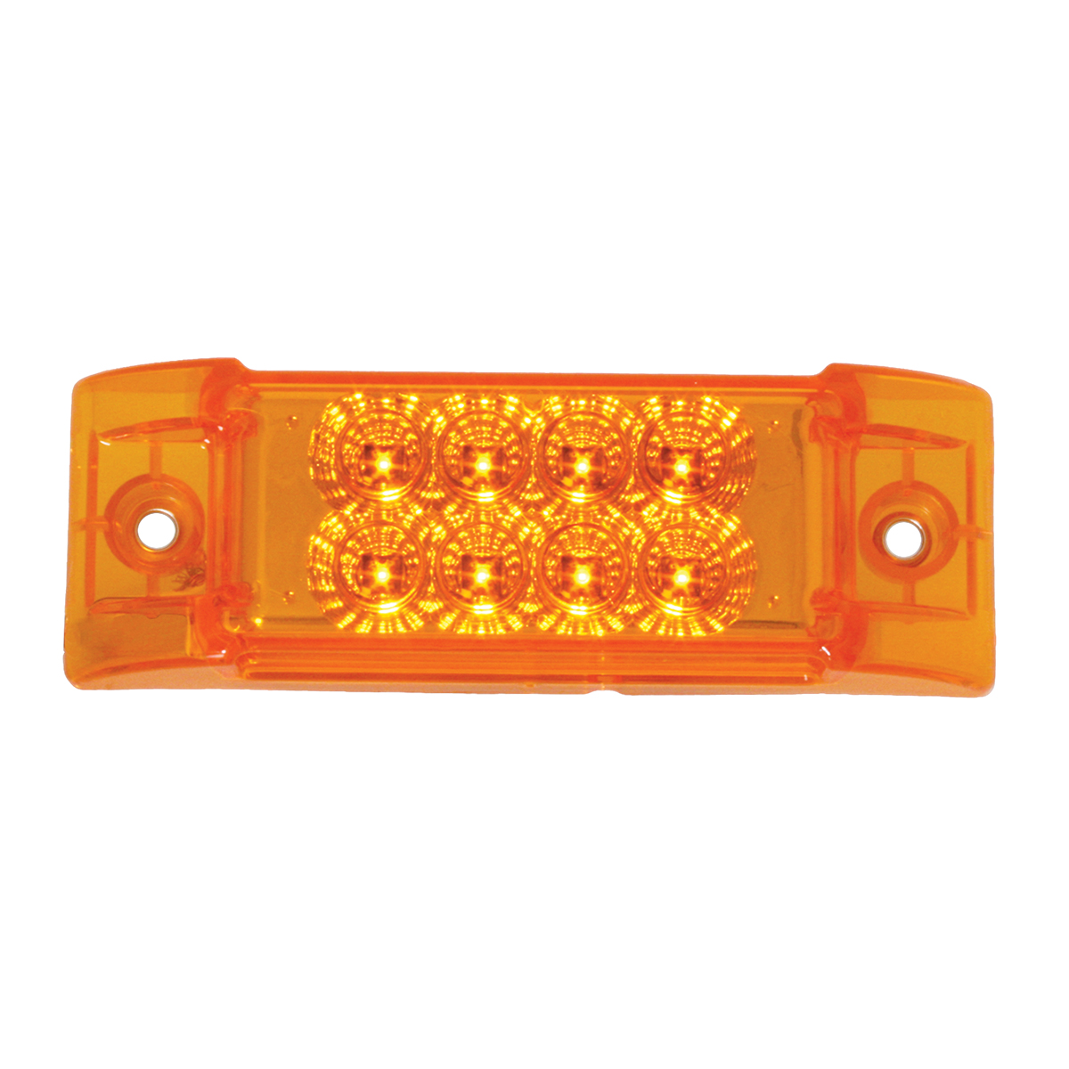 77660 Rectangular Spyder LED Marker Light in Amber/Amber