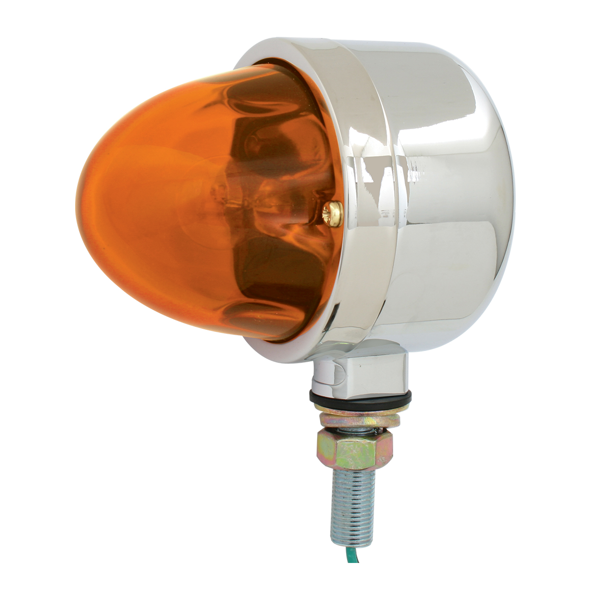 78111 Single Face Chrome Die Cast Auxiliary Light with Glass Lens