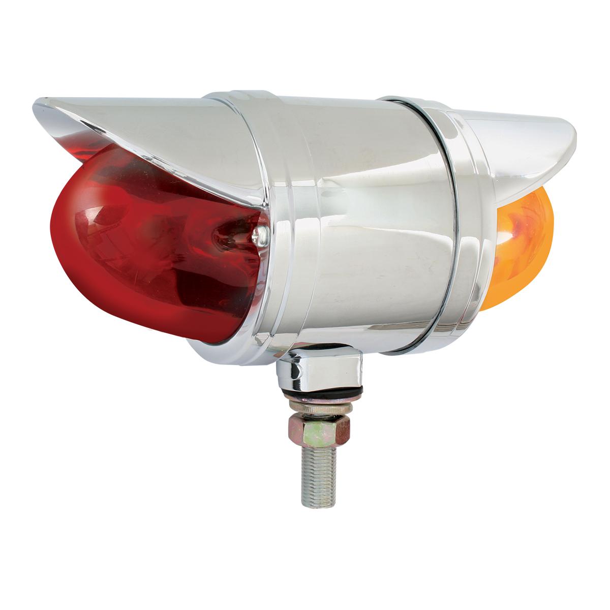 78151 Double Face Chrome Die Cast Auxiliary Glass Lens Pedestal Light