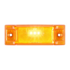 Rectangular LED Marker Light with Reflector Lens