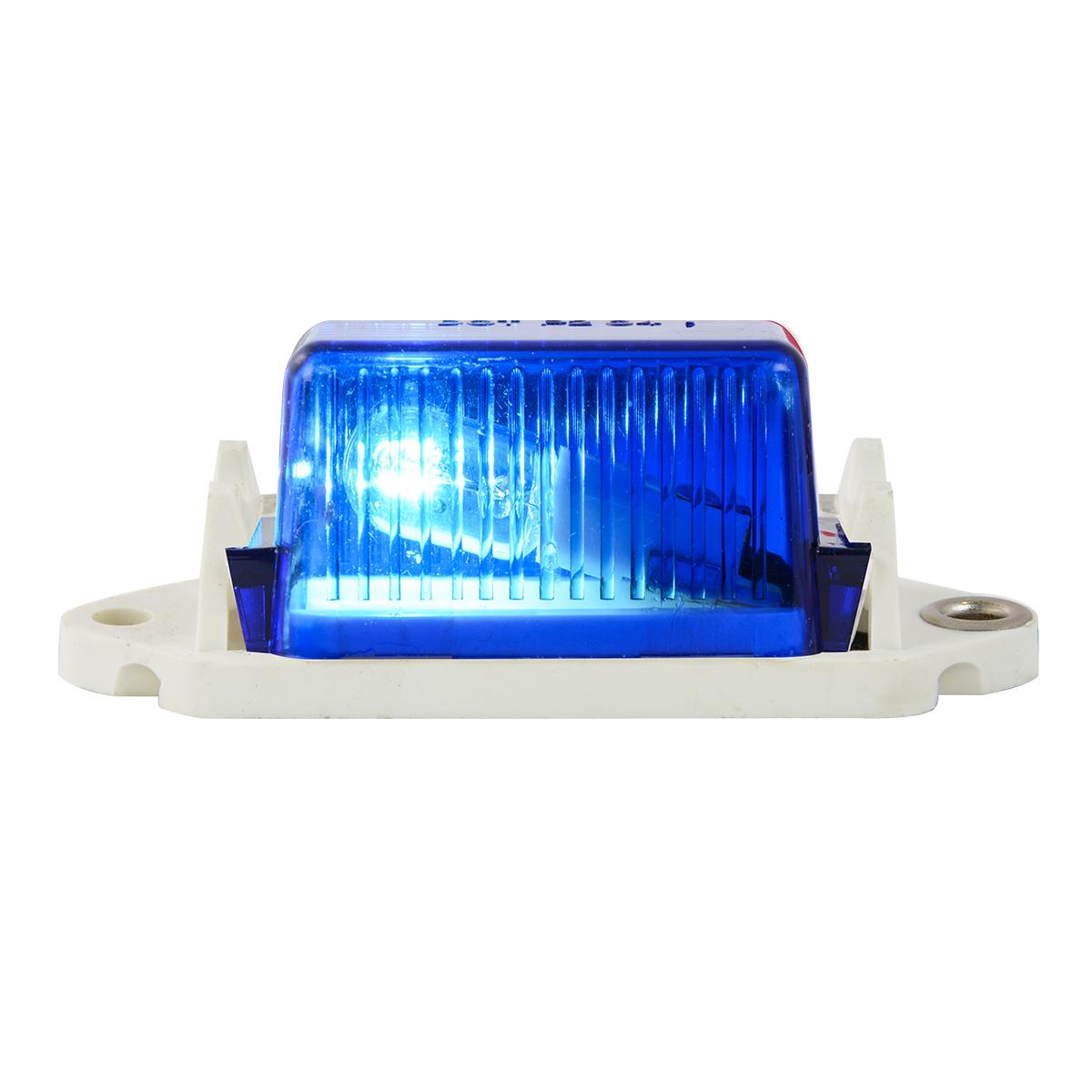 #80252 - Blue Marker Light with White Base