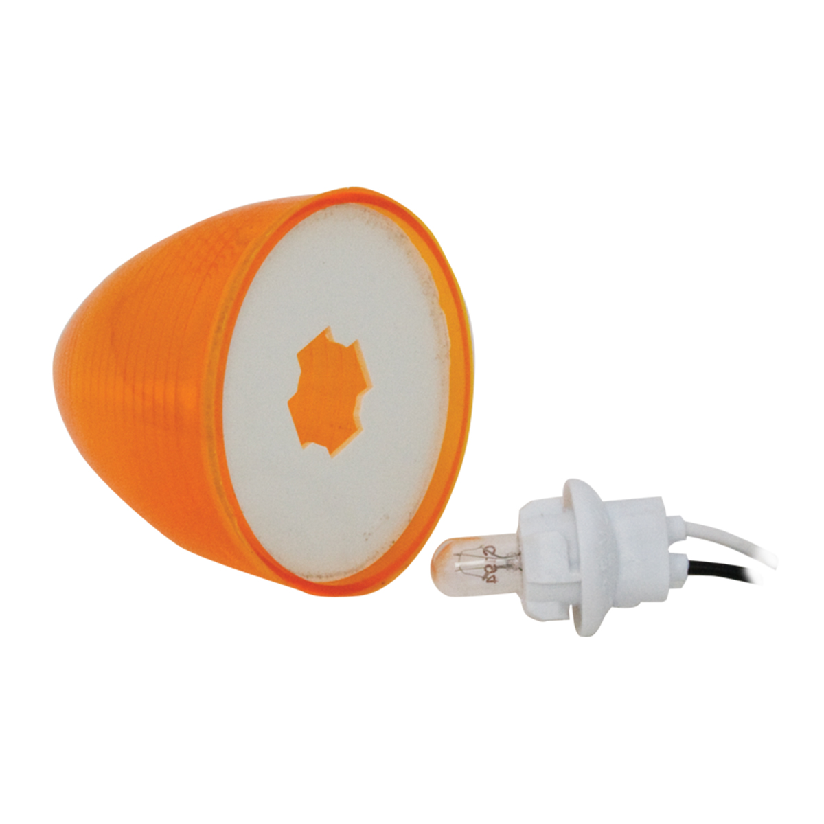 Amber Bulb Replaceable Beehive Light