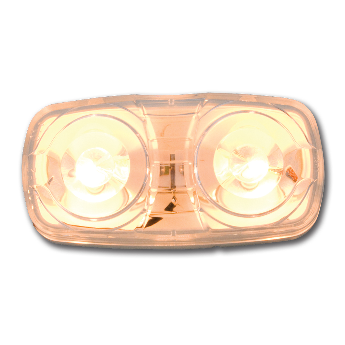 #82922 Tiger Eye Two-Bulb Clear Light with White Plastic Base