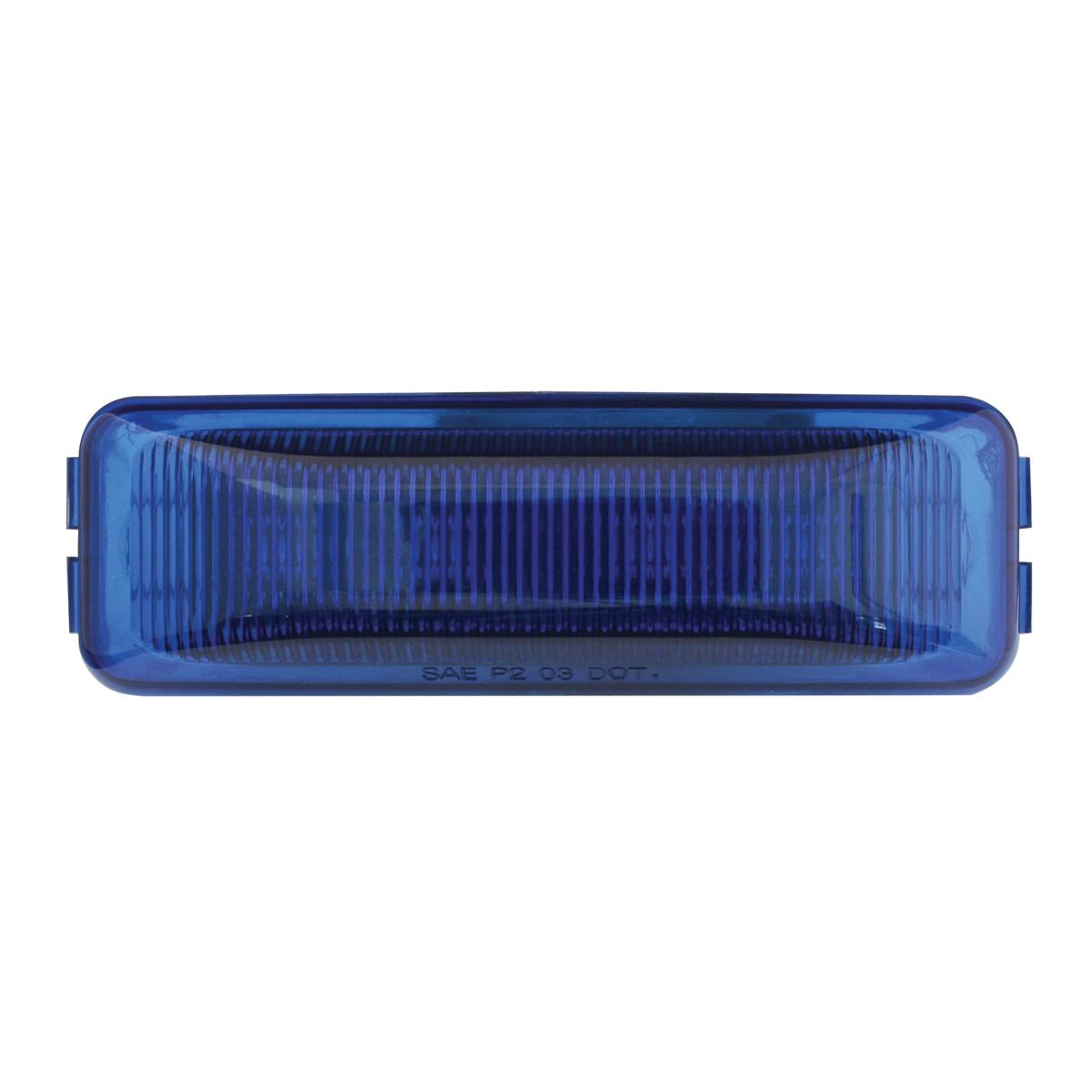 84443 Medium Rectangular LED Marker Light in Blue/Blue