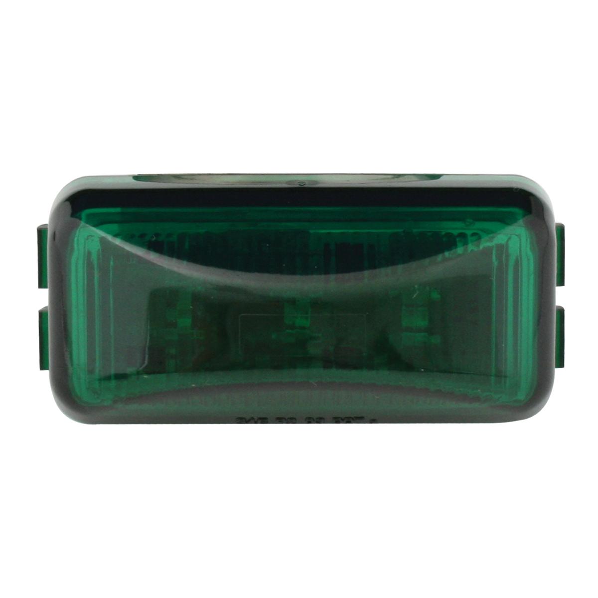 87648 Small Rectangular LED Marker Light in Green/Green