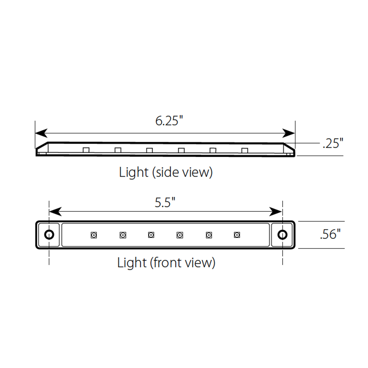 "6.25"" Ultra Thin LED Marker Light Bar"