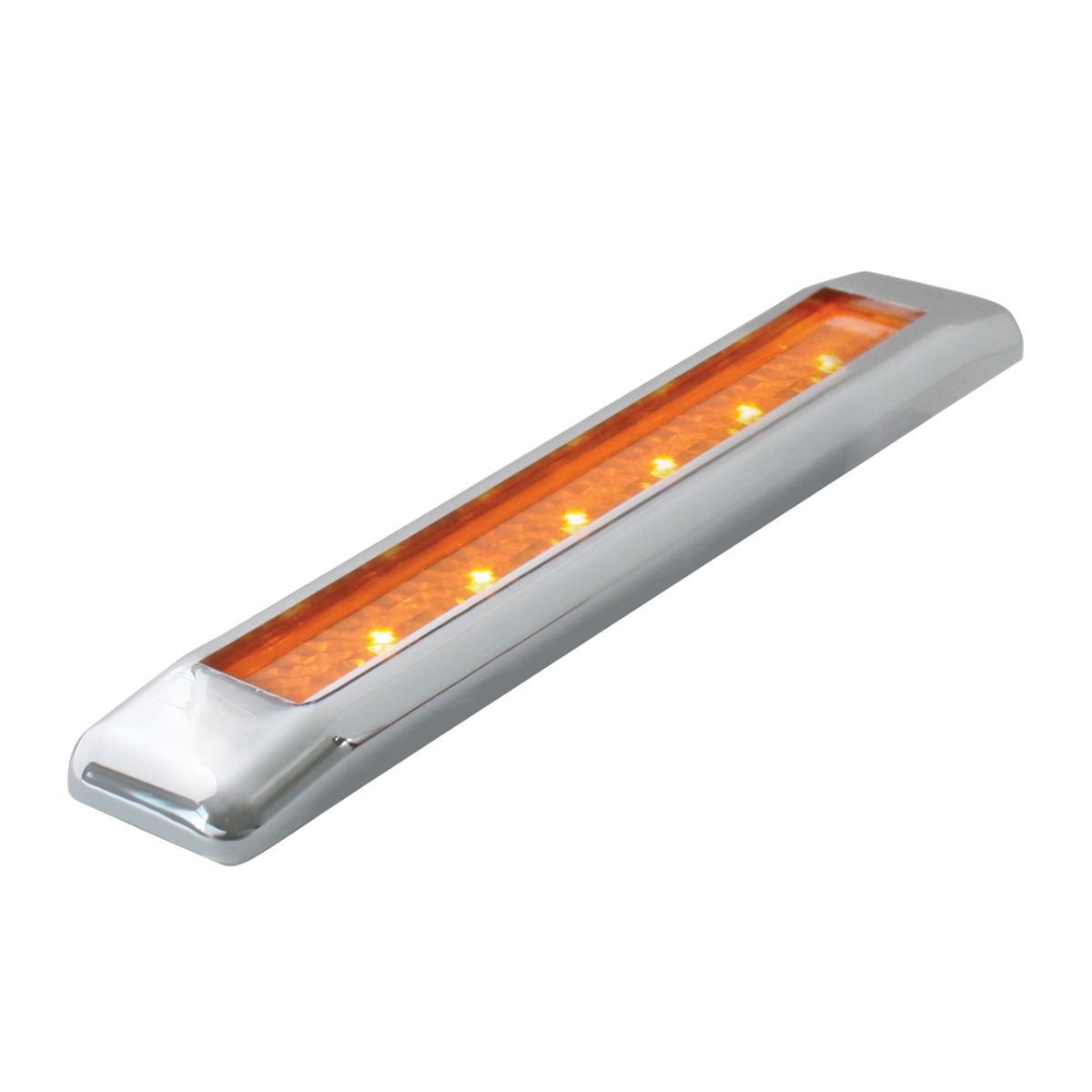 "76040 6.25"" Ultra Thin LED Marker Light Bar in Amber/Amber"