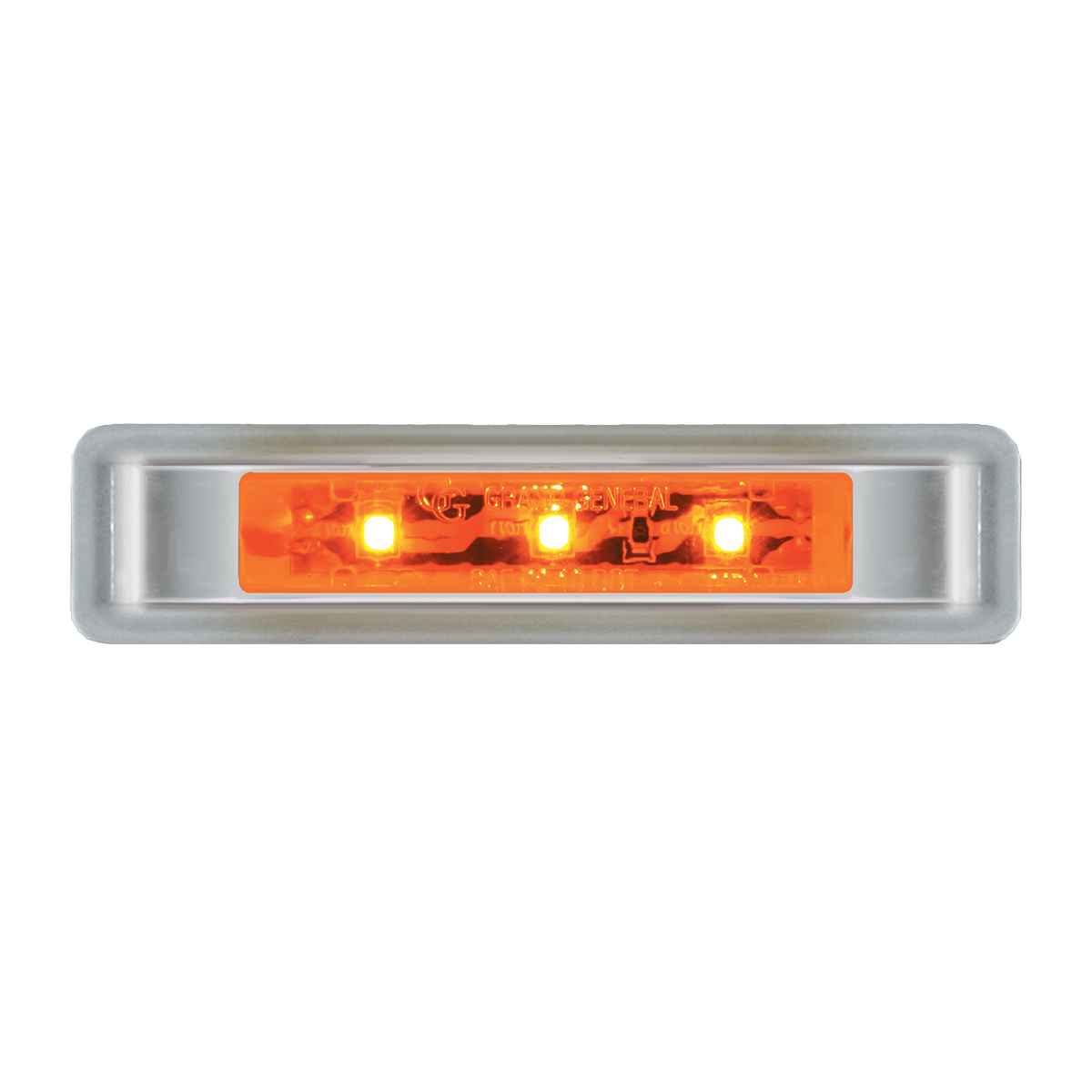 "76130 3.5"" Ultra Thin LED Marker Light w/ Chrome Plastic Bezel"