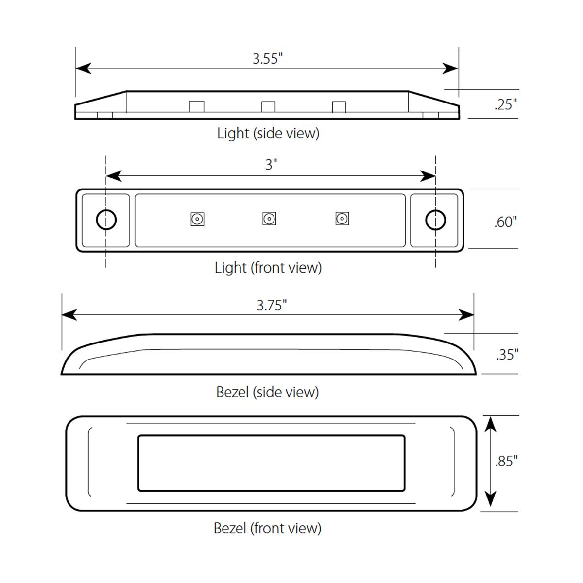 "3.5"" Ultra Thin LED Marker Light"
