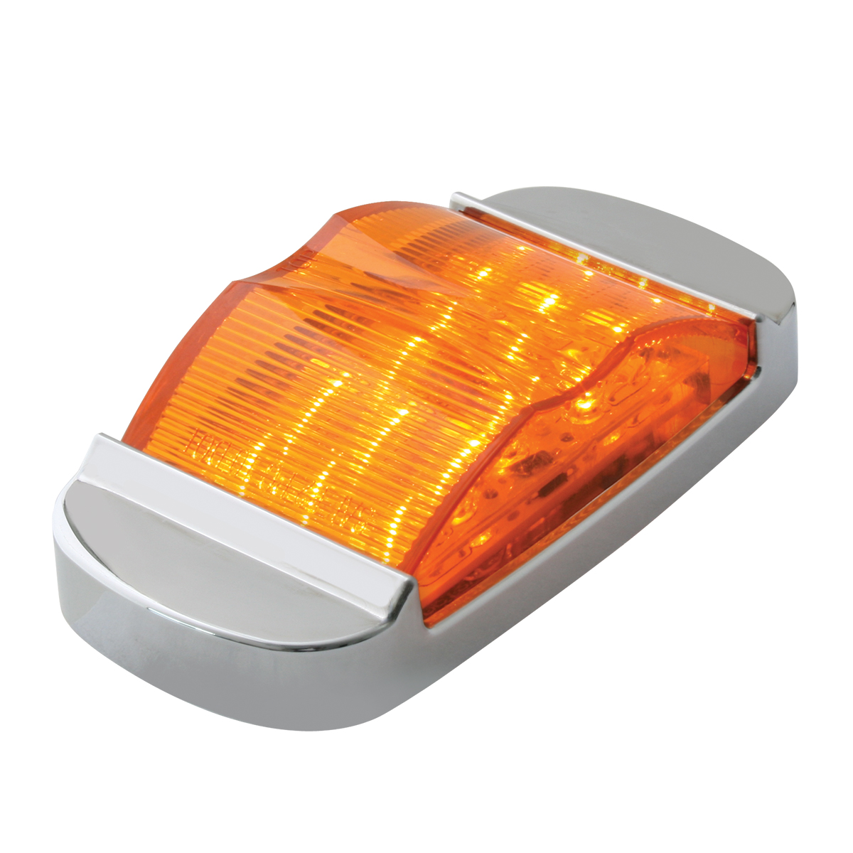 76254 Rectangular Camel Back Wide Angle LED Marker Light w/ Chrome Bezel