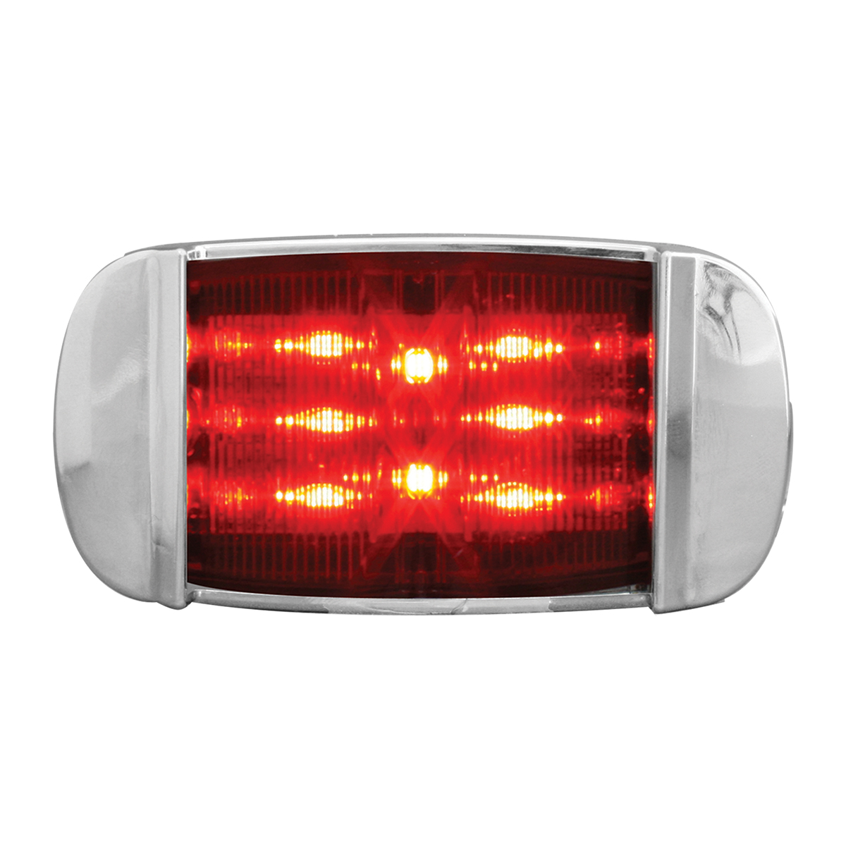 76256 Rectangular Camel Back Wide Angle LED Marker Light w/ Chrome Bezel