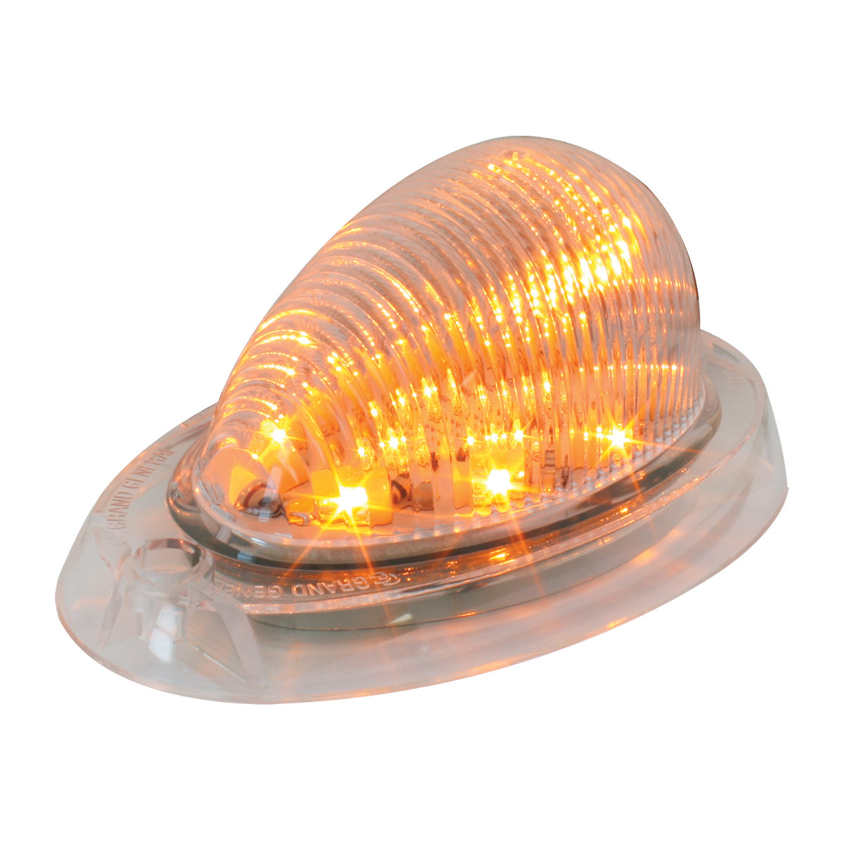 76371 Freightliner Side Marker/Turn LED Light in Amber/Clear