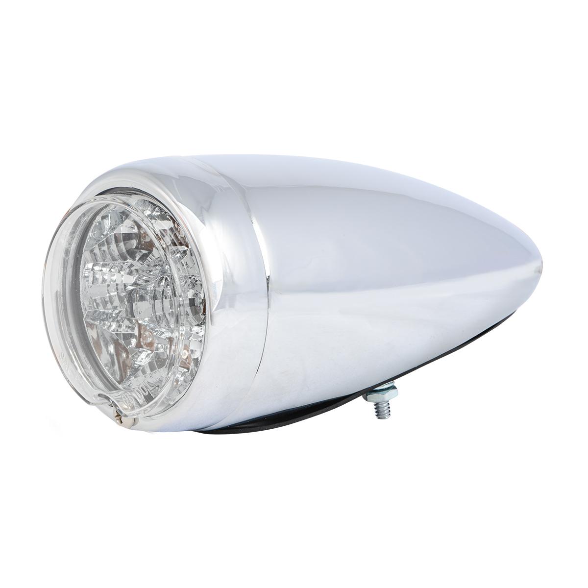77211 Chrome Steel Bullet Spyder LED Turn/Marker Light