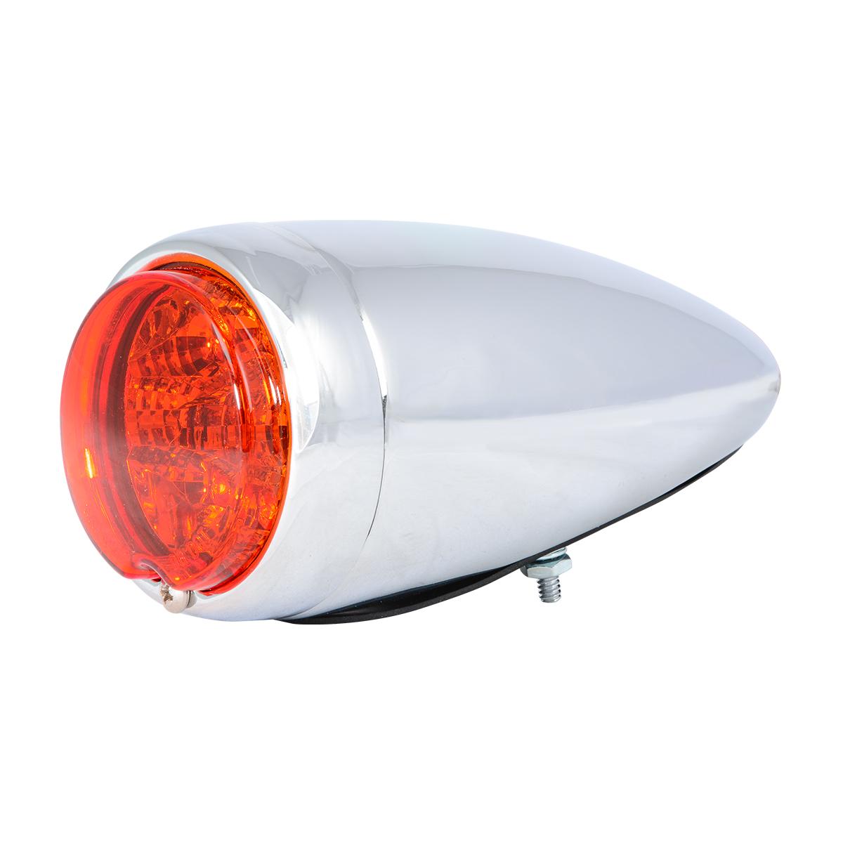 77212 Chrome Steel Bullet Spyder LED Turn/Marker Light