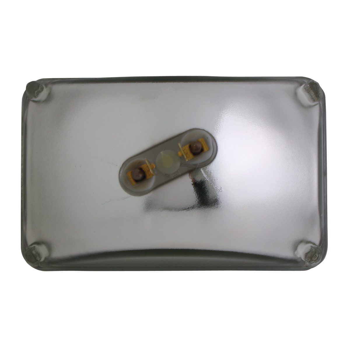 #80428 Rectangular Sealed Beam #H4651 Headlight - Back View